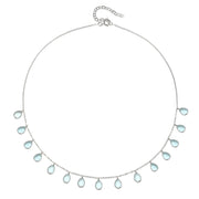 Cabo Gems Necklace-Sky Blue Teardrop