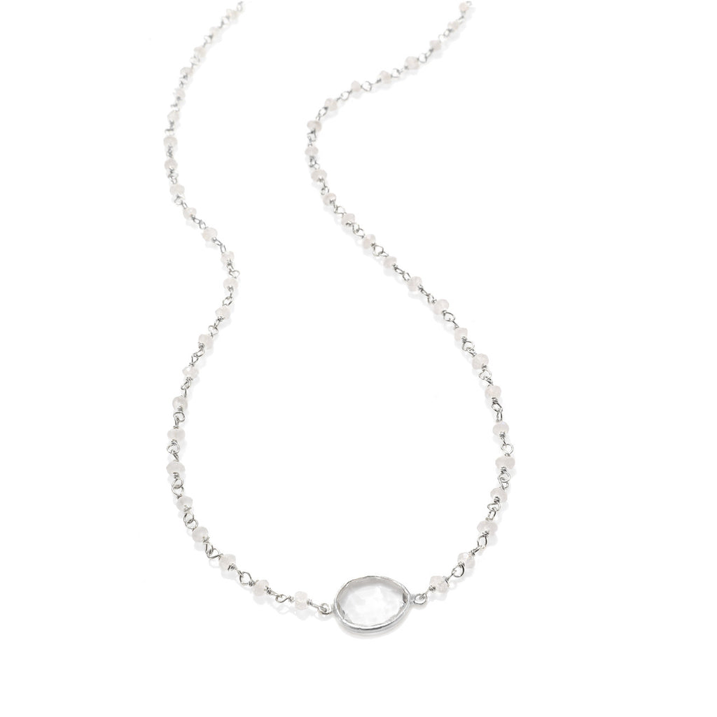 Lecco Necklace-Moonstone Silver