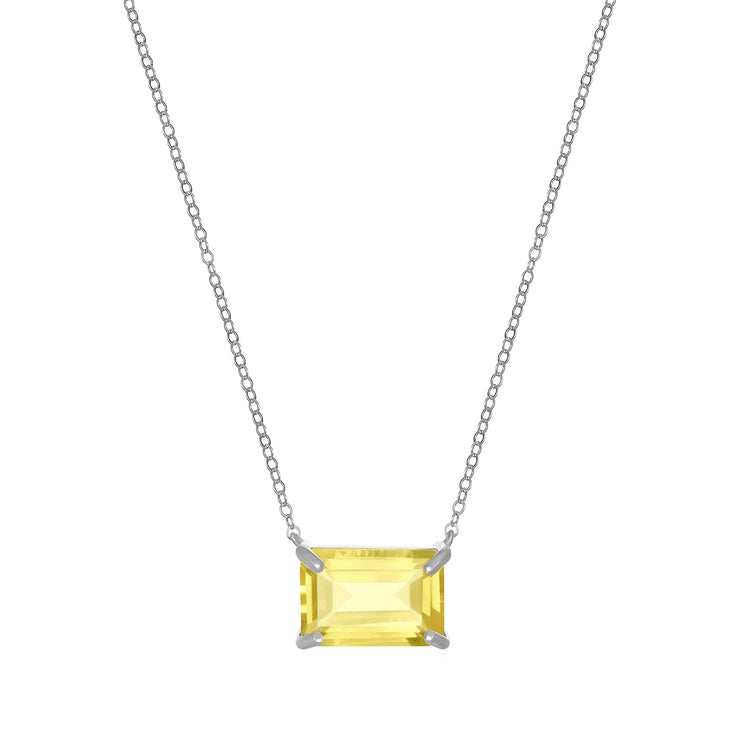 Chatham Necklace-Lemon Quartz Silver