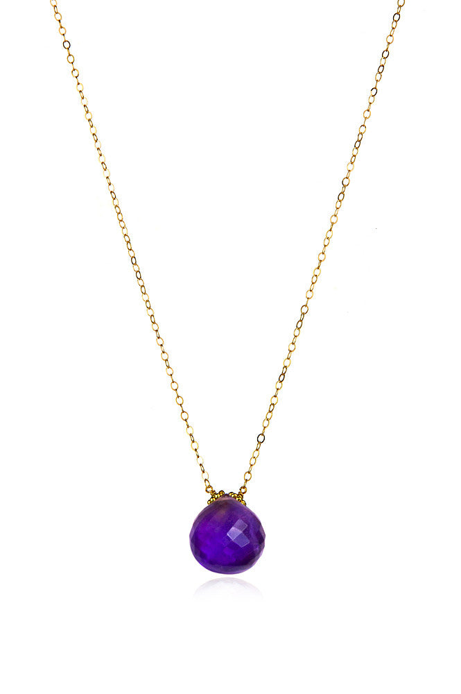 Emily Necklace-Amethyst