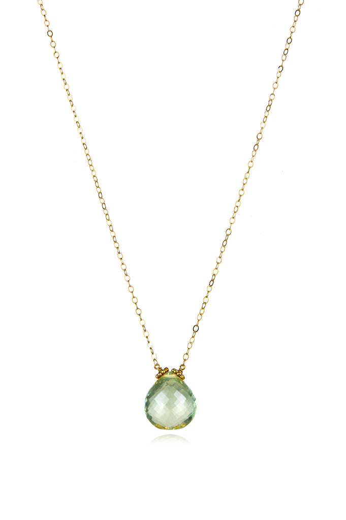 Emily Necklace-Green Amethyst