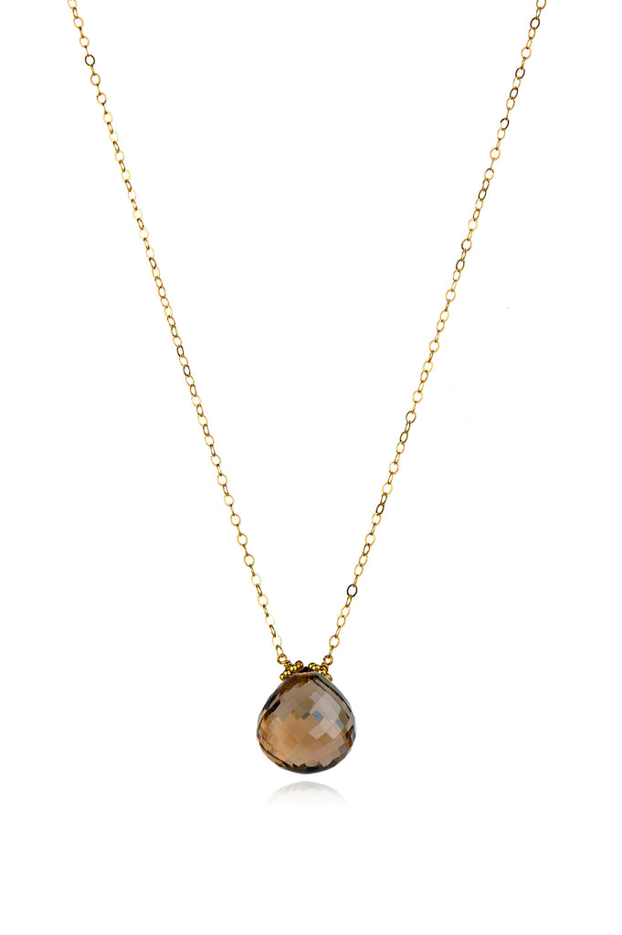 Emily Necklace-Smokey Quartz