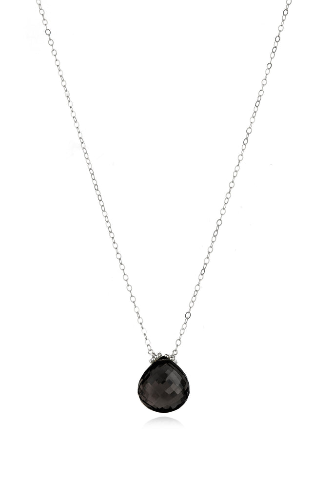 Emily Necklace-Black Spinel