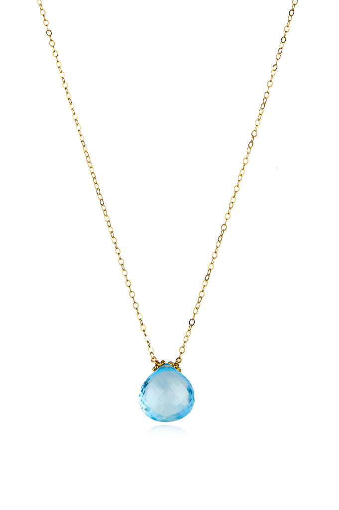 Emily Necklace-Sky Blue Topaz