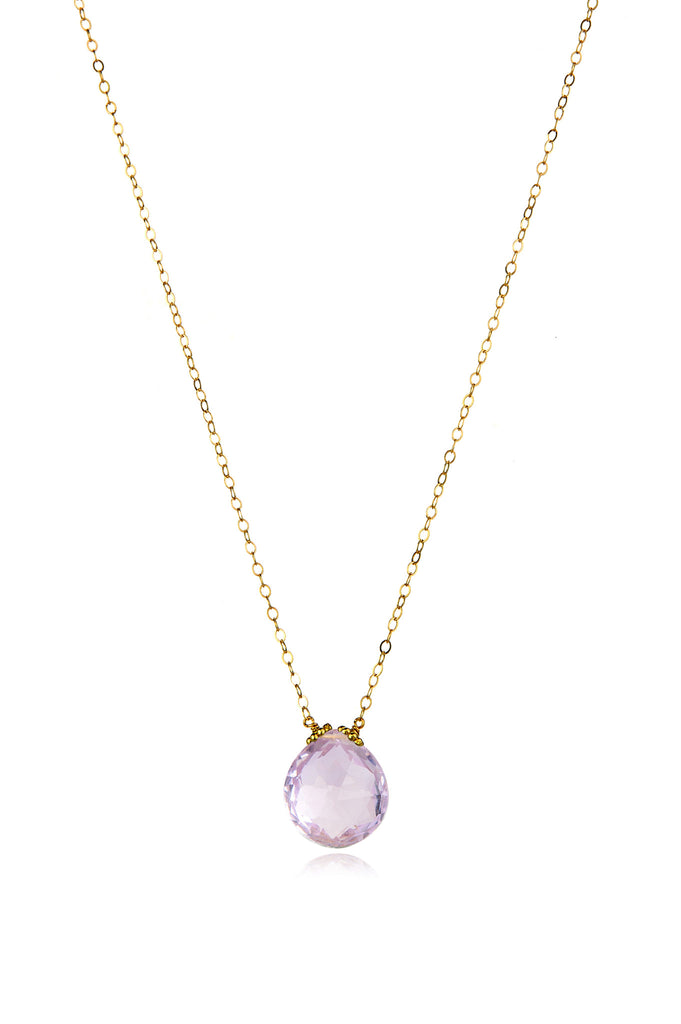Emily Necklace-Pink Amethyst
