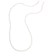 Herkimer Diamond Long Necklace - Gold