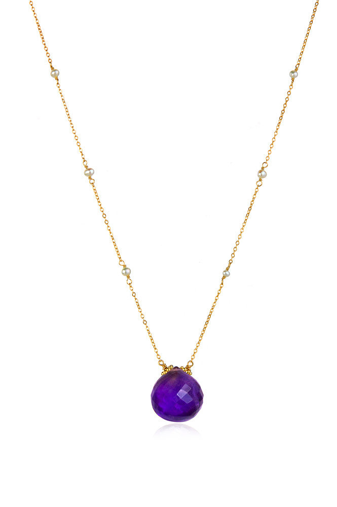 Catherine Necklace-Amethyst