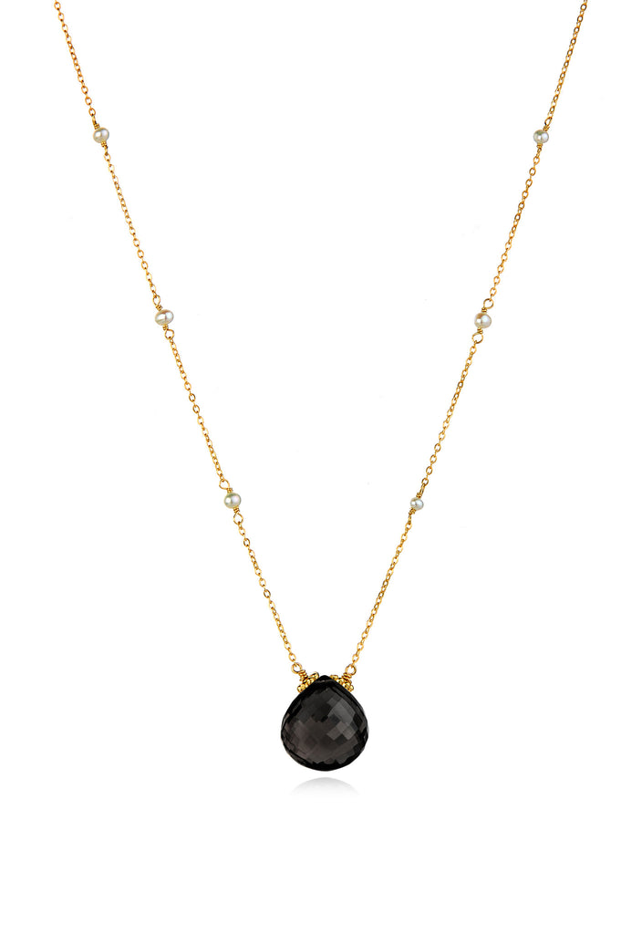 Catherine Necklace-Black Spinel