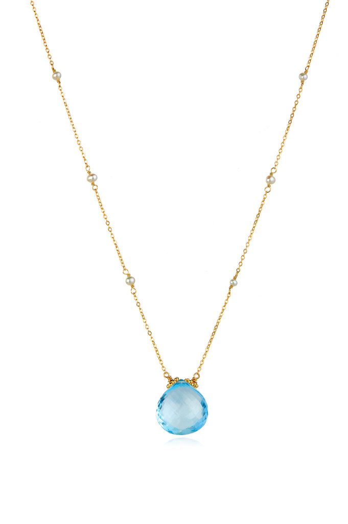 Catherine Necklace-Sky Blue Topaz