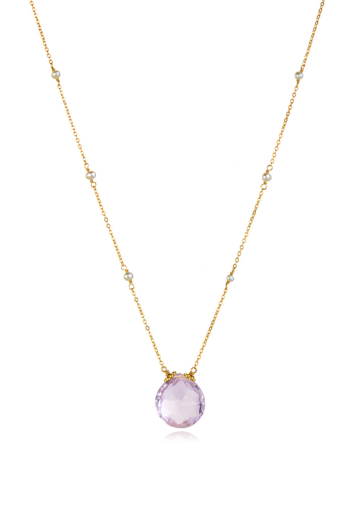 Catherine Necklace-Pink Amethyst