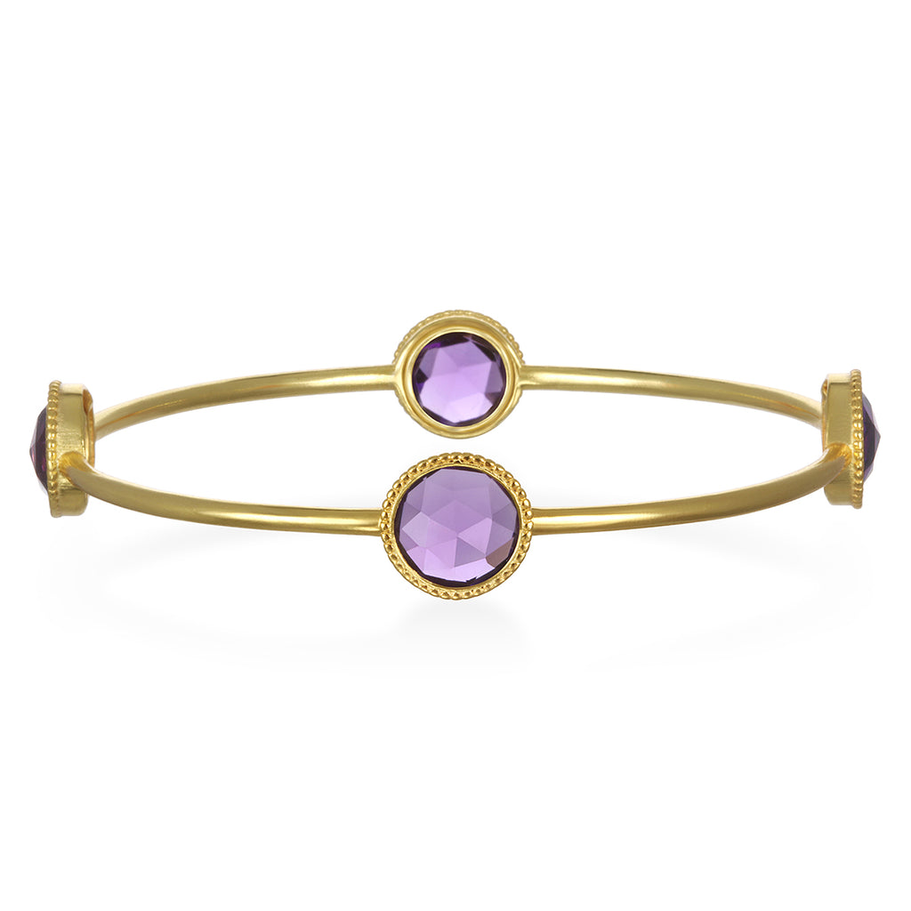 Amethyst Daphne Bangle Gold