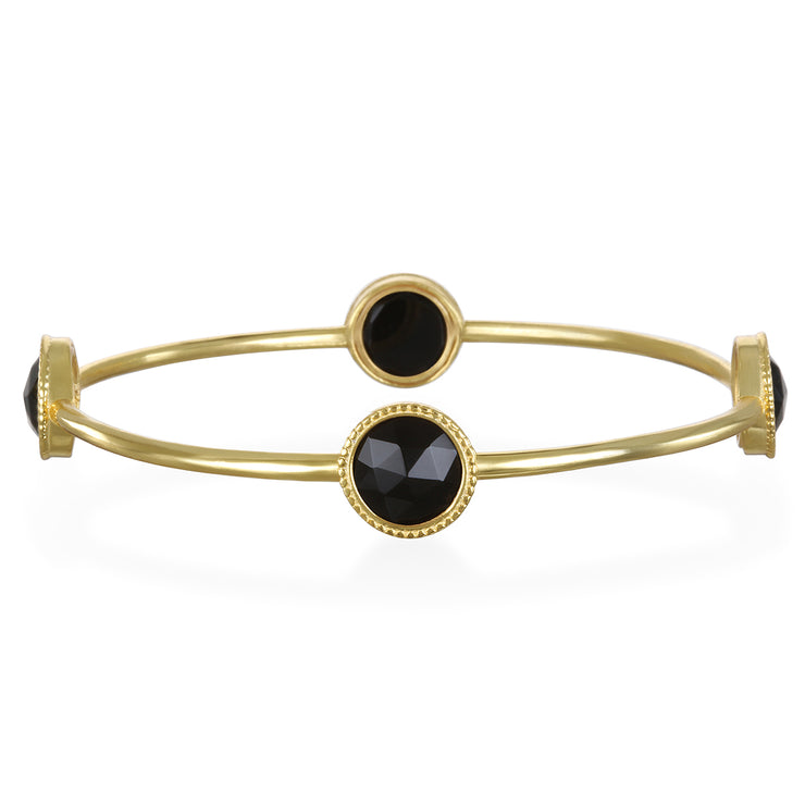 Black Daphne Bangle Gold