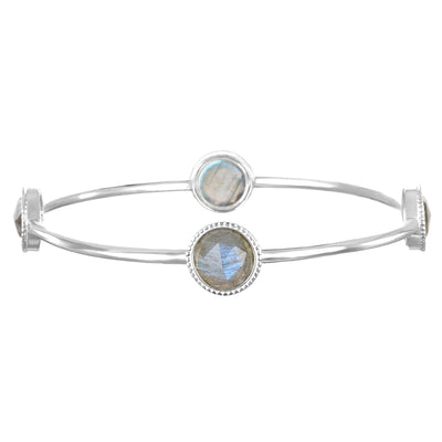 Labradorite Daphne Bangle Silver