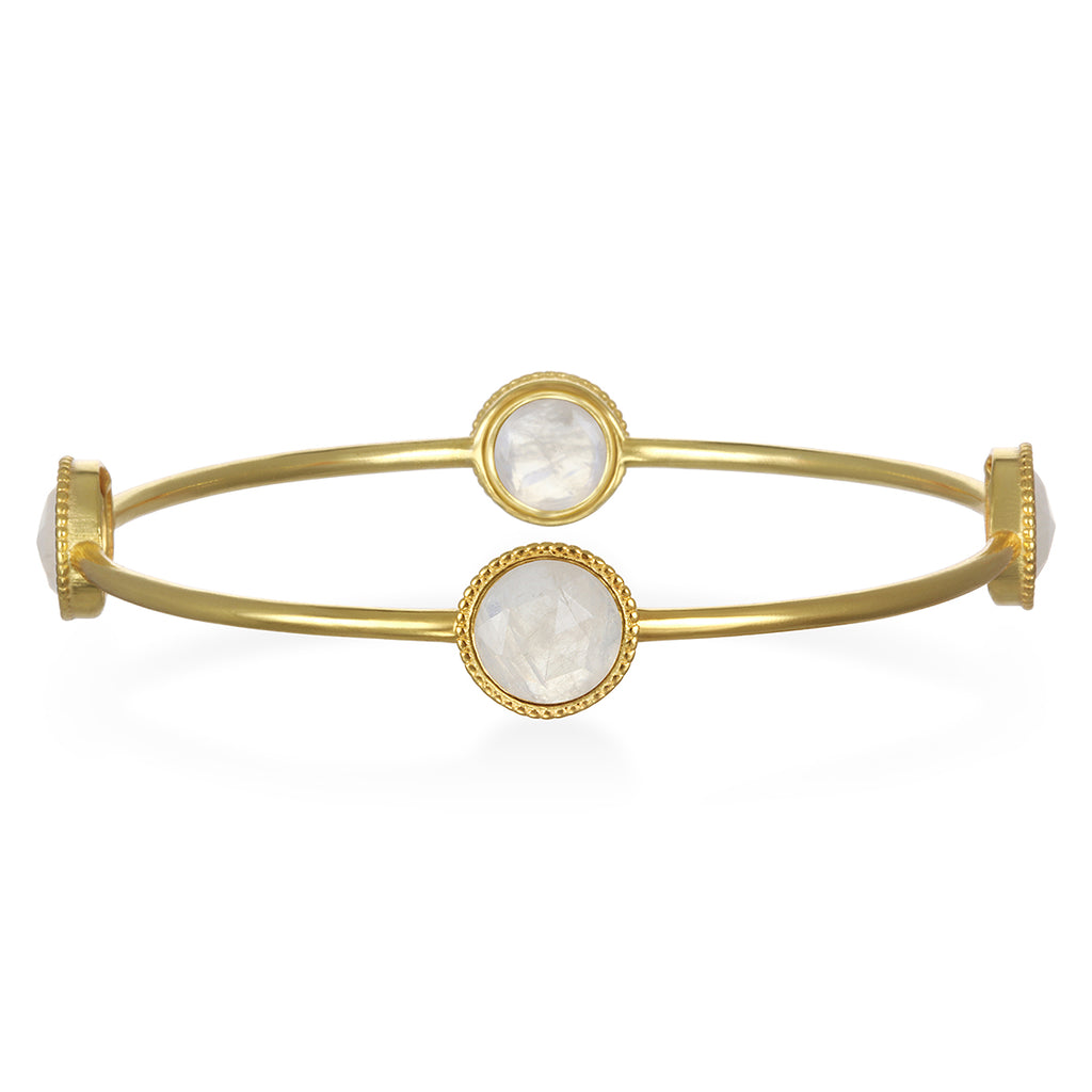 Moonstone Daphne Bangle Gold