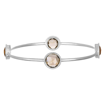 Smoky Quartz Daphne Bangle Silver
