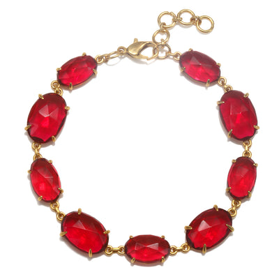 Catalina Bracelet Oval Ruby Pink Gold