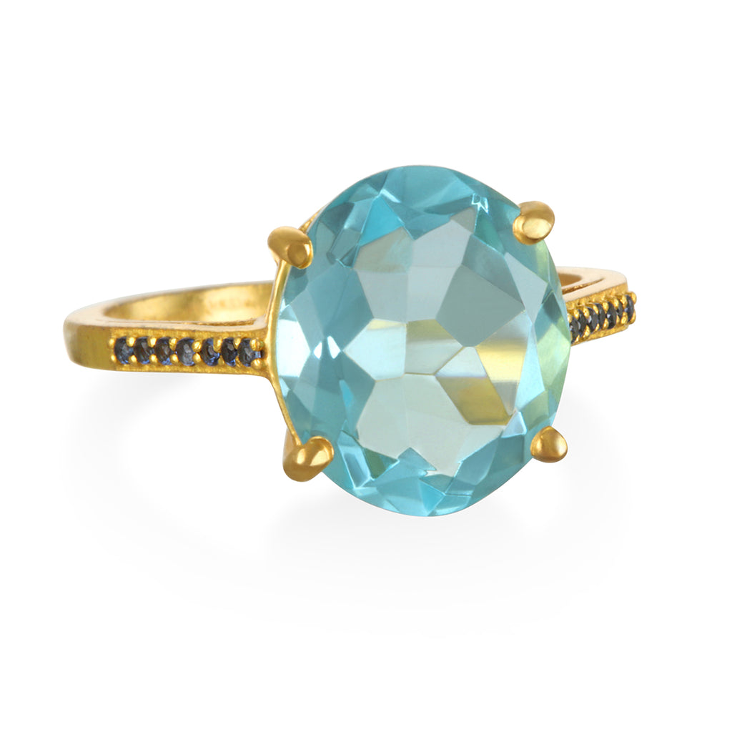 Charleston Ring - Sky Blue Gold