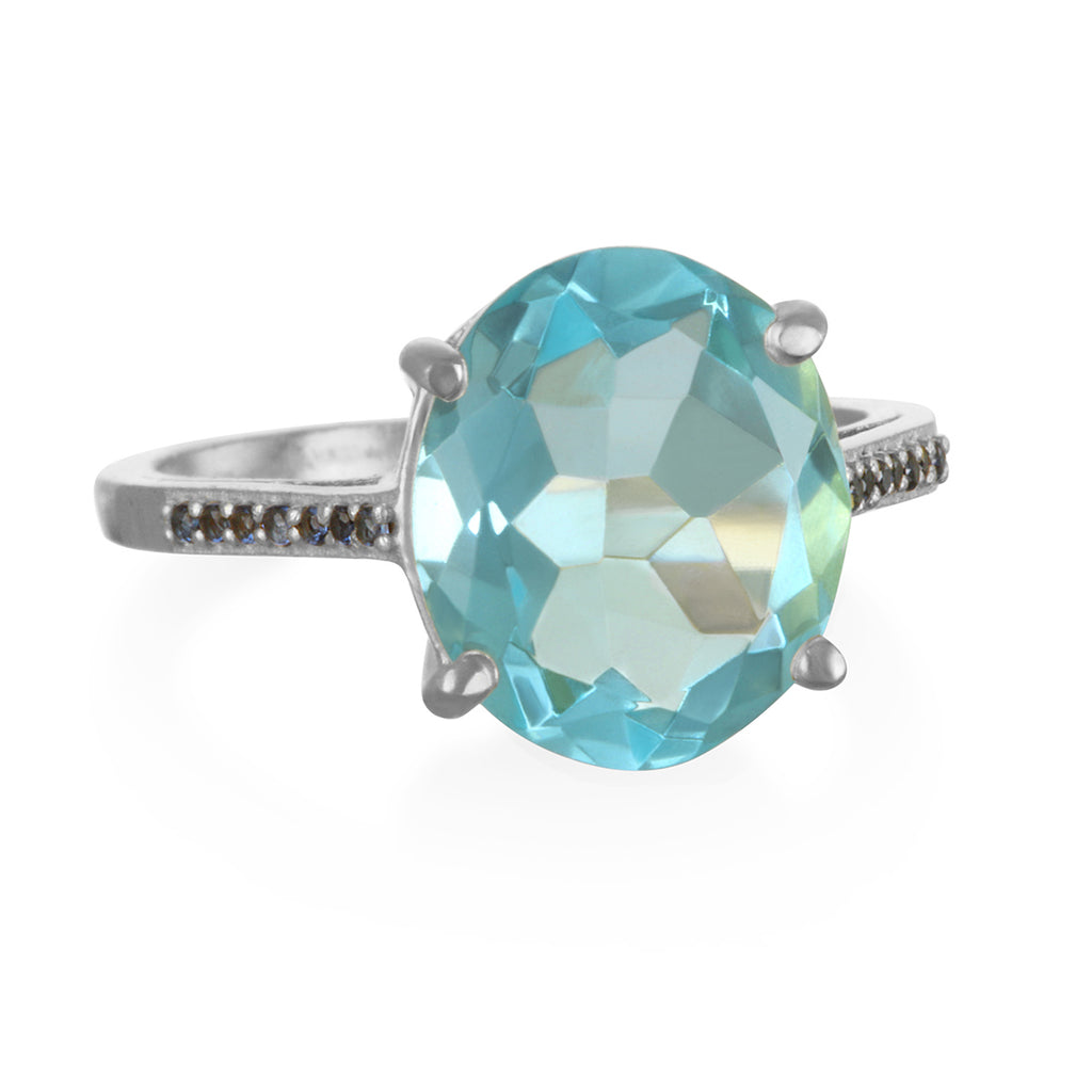 Charleston Ring - Sky Blue Silver