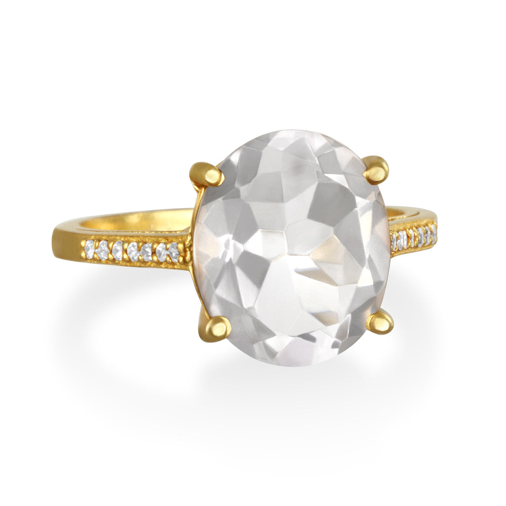 Charleston Ring - Clear Gold