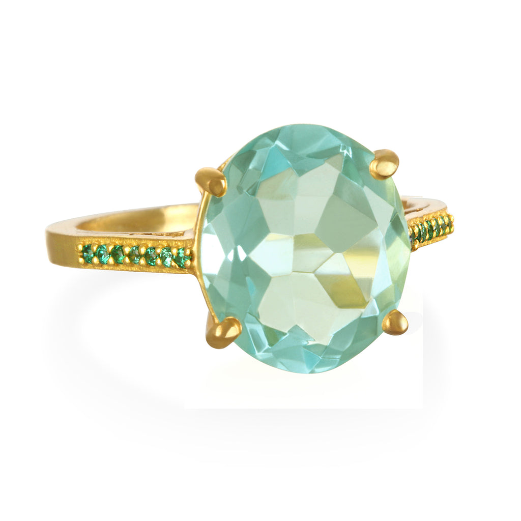 Charleston Ring - Light Green Gold