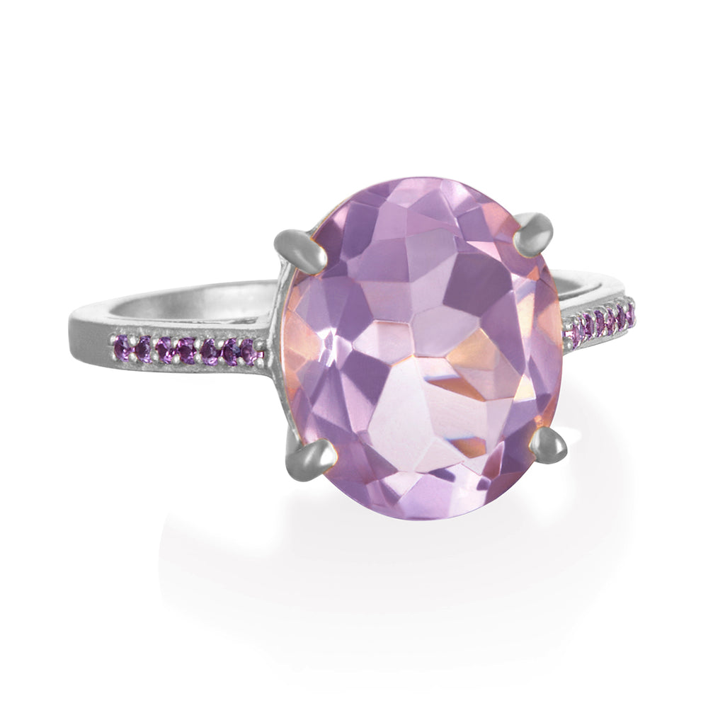 Charleston Ring - Light Purple Silver