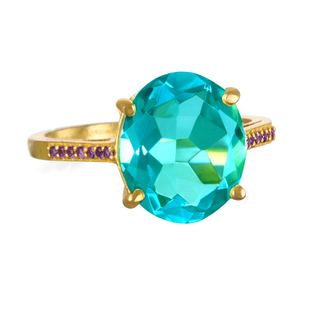 Charleston Ring - Teal Gold