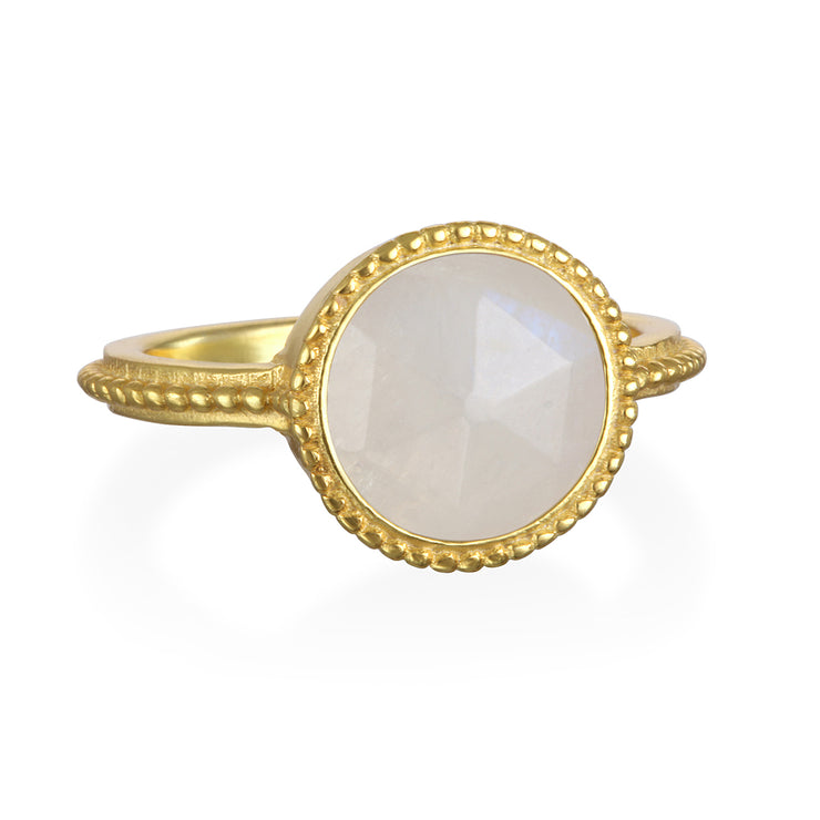Moonstone Daphne Ring Gold