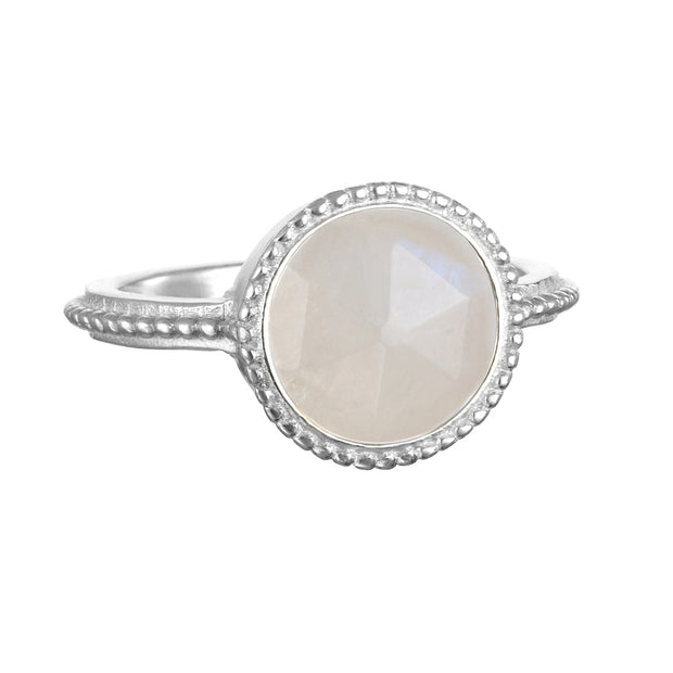 Moonstone Daphne Ring Silver