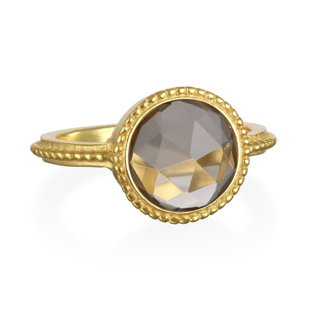 Smoky Quartz Daphne Ring Gold