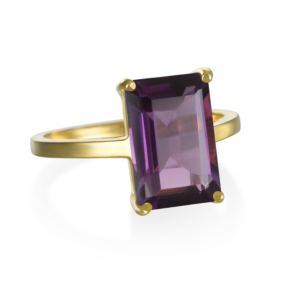 Chatham Ring- Amethyst Gold