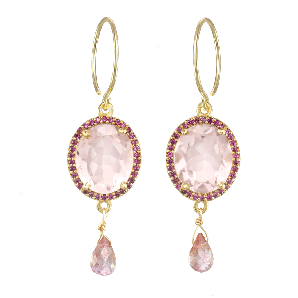 Charleston Gemdrop Earring - Pink Gold