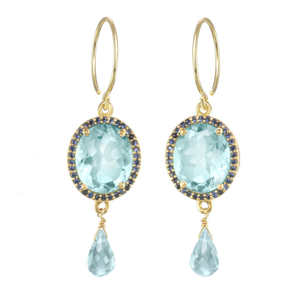 Charleston Gemdrop Earring - Sky Blue Gold