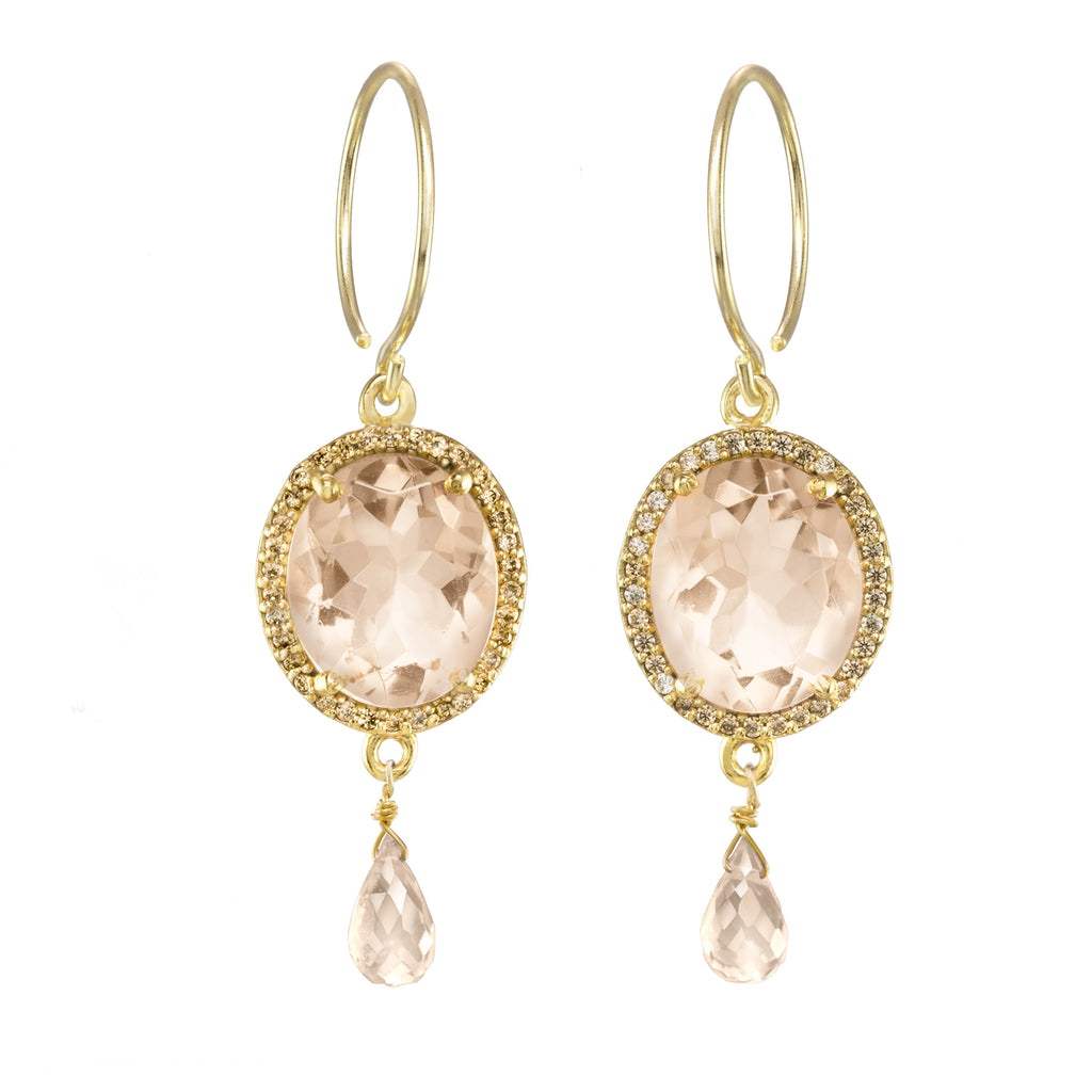 Charleston Gemdrop Earring - Peach Gold
