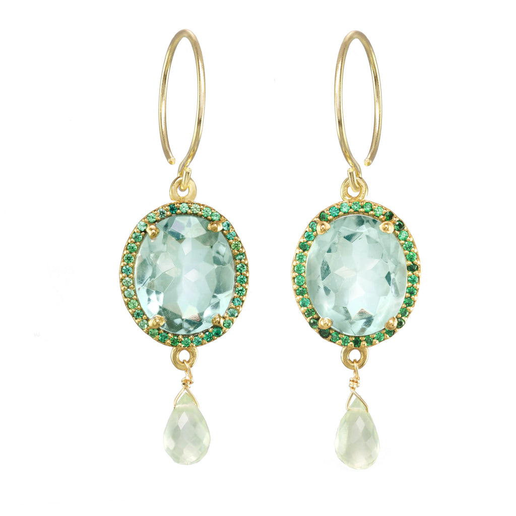Charleston Gemdrop Earring - Light Green Gold