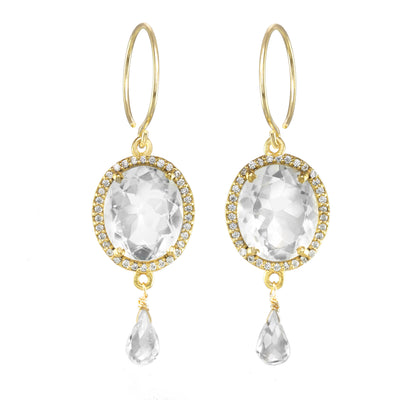 Charleston Gemdrop Earring - Clear Gold