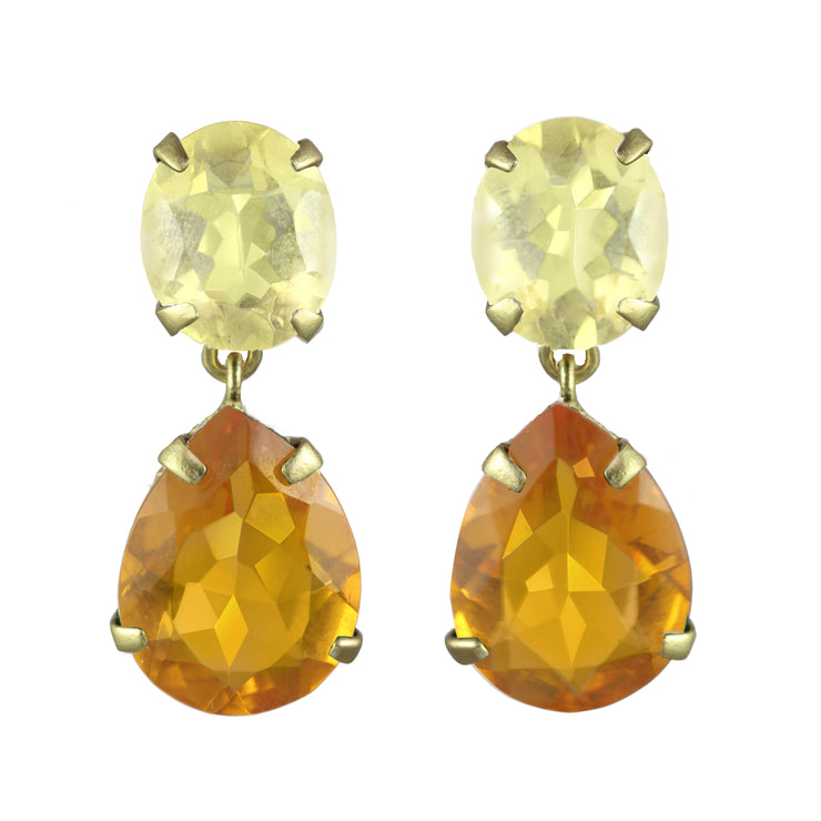 Ibiza Sunflower Gold Earrings