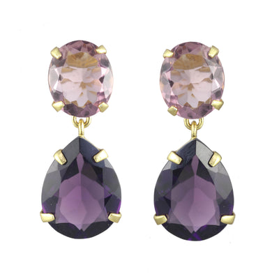 Ibiza Violet Gold Earrings