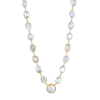 Moonstone Gem Necklace