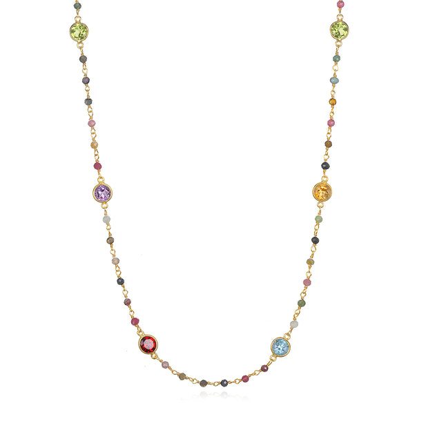 Gemstone & Tourmaline Necklace
