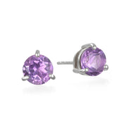 Birthstone Earring-February Amethyst