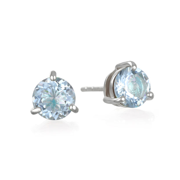 Birthstone Earring-March Aquamarine