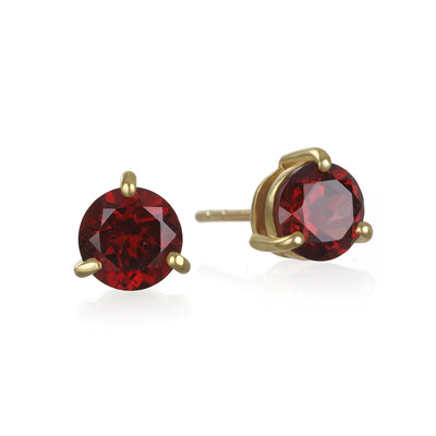 Birthstone Earring-January Garnet