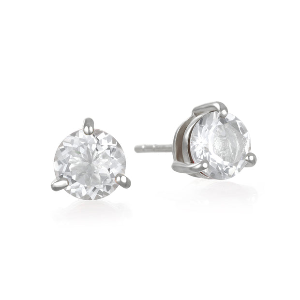Birthstone Earring-April White Topaz