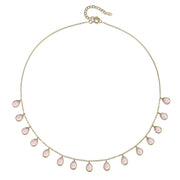 Cabo Gems Necklace-Pink Teardrop