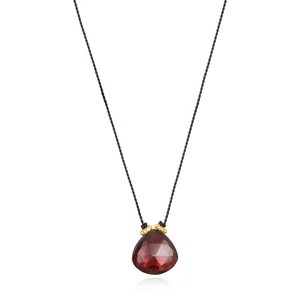 Catherine Silk Necklace-Garnet Black