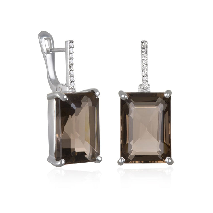 Chatham Diamond Emerald Cut Earring
