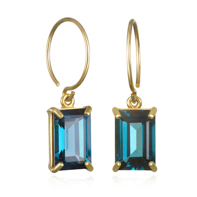 Chatham Earring-London Blue Topaz Gold