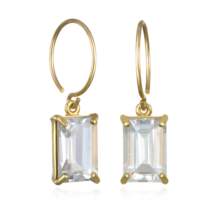Chatham Earring-White Topaz Gold