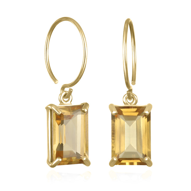Chatham Earring-Citrine Gold