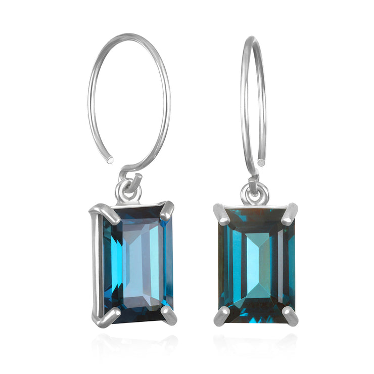 Chatham Earring-London Blue Topaz Silver